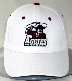 New Mexico State Aggies White One Fit Hat