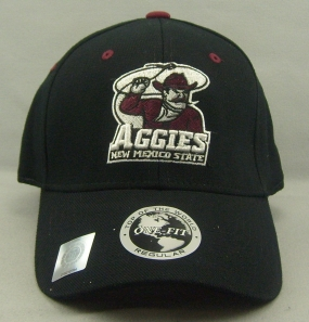 New Mexico State Aggies Black One Fit Hat