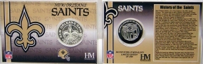 New Orleans Saints Team History Coin Card