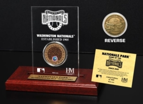 Nationals Park Infield Dirt Coin Etched Acrylic