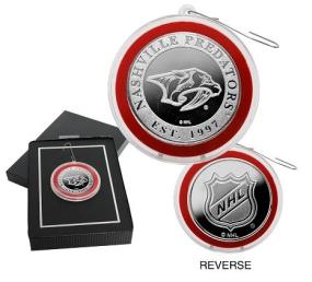 Nashville Predators Silver Coin Ornament