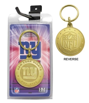 New York Giants Bronze Bullion Keychain