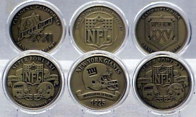 NEW YORK GIANTS BRONZE SUPER BOWL COLLECTION