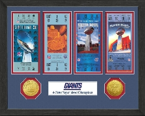 New York Giants SB Championship Ticket Collection