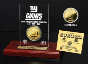 New York Giants 3x SB Champs Etched Acrylic