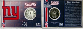 New York Giants Team History Silver Coin Card