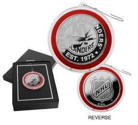 New York Islanders Silver Coin Ornament