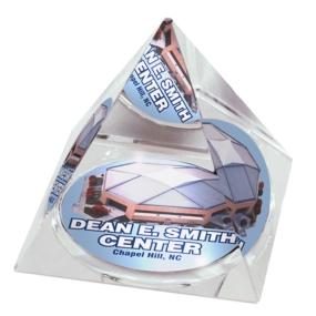 UNC Tar Heels Crystal Pyramid
