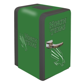 North Texas Mean Green Portable Party Refrigerator