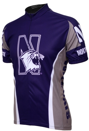 Northwestern Wildcats Cycling Jersey
