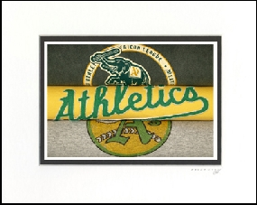 Oakland Athletics Vintage T-Shirt Sports Art