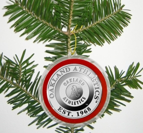 Oakland A's Silver Coin Ornament