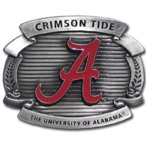 College Oversized Belt Buckle - Alabama Crimson Tide