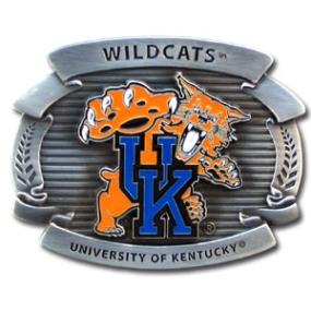 College Oversized Belt Buckle - Kentucky Wildcats