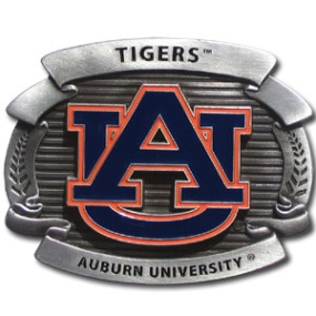 College Oversized Belt Buckle - Auburn Tigers