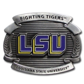 College Oversized Belt Buckle - LSU Tigers