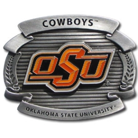 College Oversized Belt Buckle - Oklahoma St. Cowboys