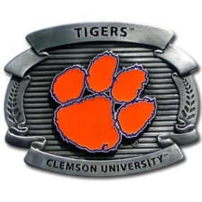 College Oversized Belt Buckle - Clemson Tigers