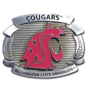 College Oversized Belt Buckle - Washington St. Cougars