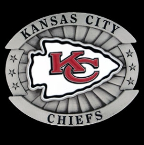 Oversized NFL Buckle - Oversized Buckle - Kansas City Chiefs