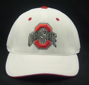 Ohio State Buckeyes White Elite One Fit Hat