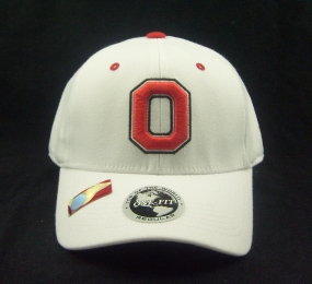Ohio State Buckeyes White One Fit Hat
