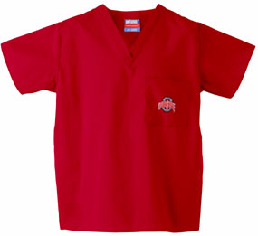 Ohio State Buckeyes Scrub Top