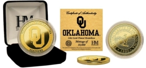 University of Oklahoma 24KT Gold Coin
