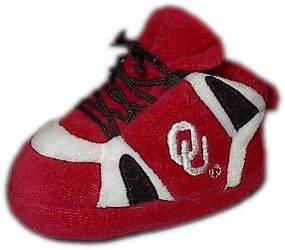Oklahoma Sooners Baby Slippers