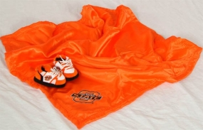 Oklahoma State Cowboys Baby Blanket and Slippers