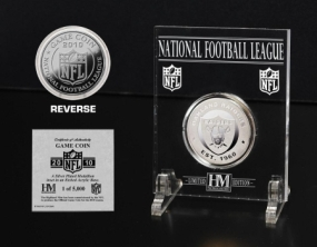 Oakland Raiders Silver Game Coin
