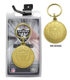 Oakland Raiders Bronze Bullion Keychain