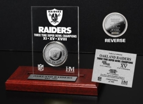 Oakland Raiders 3x SB Champs Etched Acrylic
