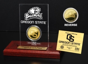 Oregon State University 24KT Gold Coin Etched Acrylic