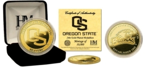 Oregon State University 24KT Gold Coin