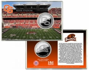 Oregon State University Reser Stadium Silver Coin Card