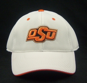 Oklahoma State Cowboys White Elite One Fit Hat