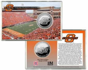 Oklahoma State University Boone Pickens Stadium Silver Coin Card