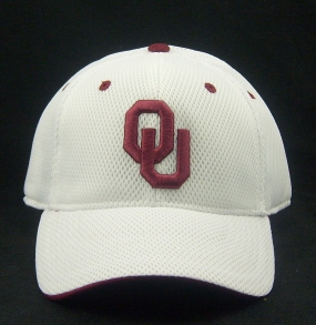 Oklahoma Sooners White Elite One Fit Hat