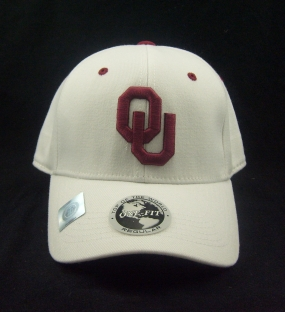Oklahoma Sooners White One Fit Hat