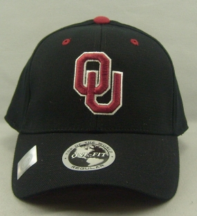 Oklahoma Sooners Black One Fit Hat