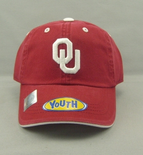 Oklahoma Sooners Youth Crew Adjustable Hat