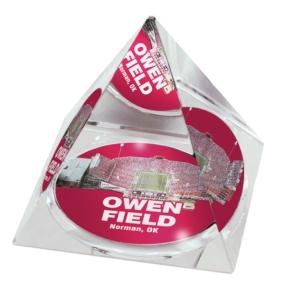 Oklahoma Sooners Crystal Pyramid