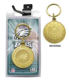 Philadelphia Eagles Bronze Bullion Keychain