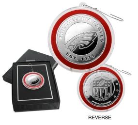 Philadelphia Eagles Silver Coin Ornament