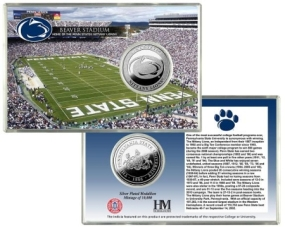 Penn State University  Beaver Stadium Silver Coin Card