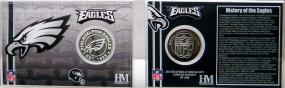 Philadelphia Eagles Team History Coin Card
