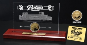 Petco Park 24KT Gold Coin Etched Acrylic