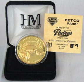 Petco Park 24KT Gold Commemorative Coin