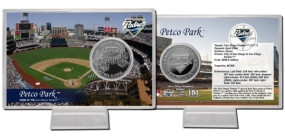 Petco Park Silver Plate Coin Card